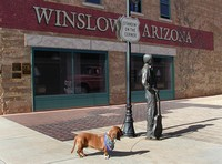 """Well I'm a-standin' on the corner in Winslow, Arizona..."""