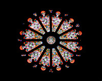 The Rose Window of the Cathedral Church of St. Francis of Assisi - from the inside