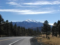 The San Francisco Peaks near Flagstaff, Arizona